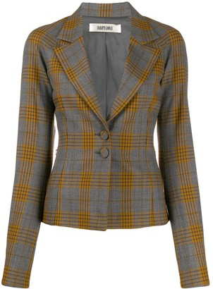 Charlotte Knowles Plaid Print Blazer