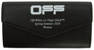 Off-White Black and White Logo Long wallet