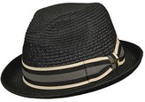 Scala Men's Braided Paper Fedora - Black