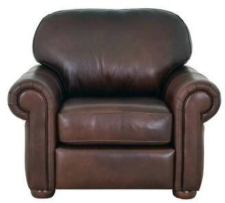 "Westland and Birch Heath 43"" W Top Grain Leather Club Chair Fabric: Brompton Deep Red Genuine Leather"