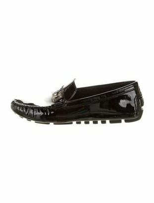 Louis Vuitton Patent Leather Loafers Black