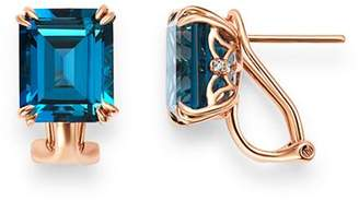 Bloomingdale's London Blue Topaz & Diamond Drop Earrings in 14K Rose Gold - 100% Exclusive