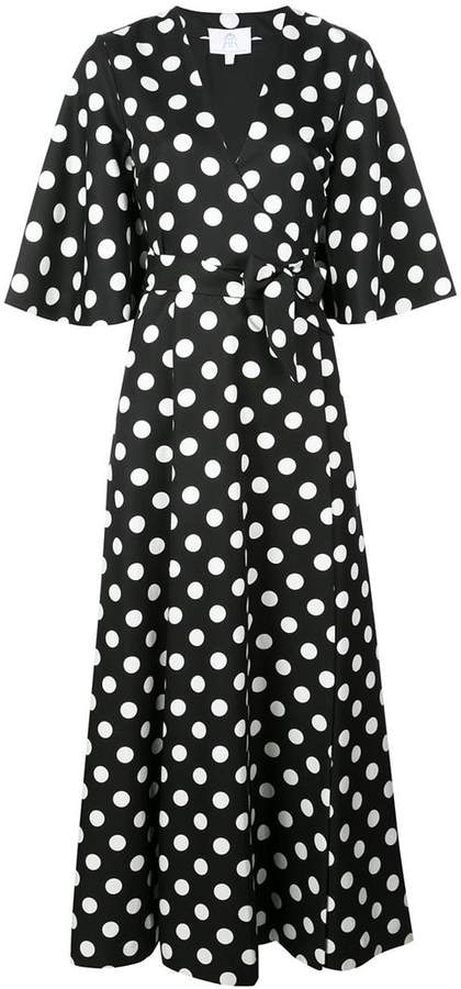 Rebecca De Ravenel polka dot wrap dress
