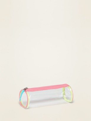 Old Navy Clear Plastic Zip-Top Pencil Case for Girls