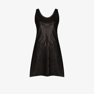 Helmut Lang Sleeveless Lambskin Mini Dress