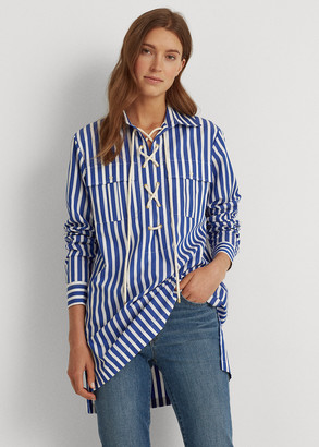 Ralph Lauren Striped Lace-Up Shirt