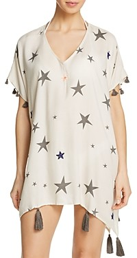 Surf.Gypsy Beaded Star Print Dress Swim Cover-Up