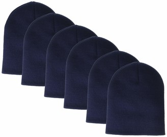 Clementine Apparel Men's CLM-AL-1500-Knit Beanie (6 PK)