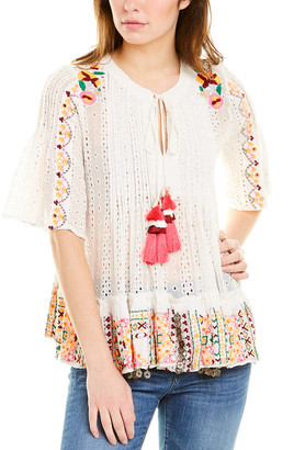 HEMANT AND NANDITA Eyelet Blouse