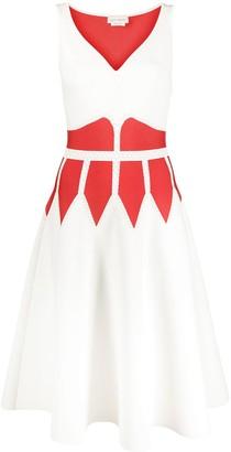 Alexander McQueen Flared Jacquard Dress