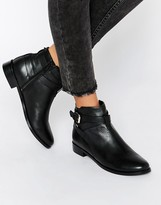 Faith Brogan Buckle Leather Ankle Boots