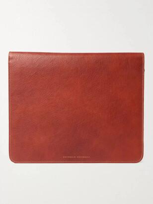 Brunello Cucinelli Full-Grain Leather Document Holder - Men - Brown