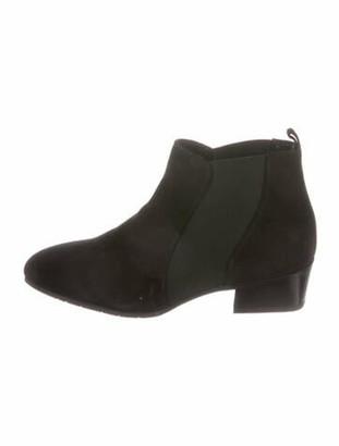 Aquatalia Suede Chelsea Boots Black