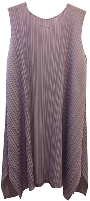 Pleats Please Purple Polyester Dresses