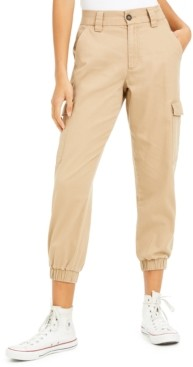 Tinseltown Juniors' Cotton Cargo Jogger Pants