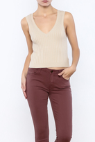 Lush Taupe Cropped Top