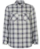 Soul Cal SoulCal Womens Deluxe Check Shirt Button Front Long Sleeve Collar Neck
