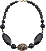 Barse Women's Bronze Onyx Necklace NECK196X
