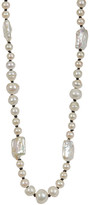 Stephen Dweck Sterling Silver White Freshwater Pearl Bead Necklace