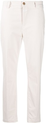 Closed Mid-Rise Tapered Trousers