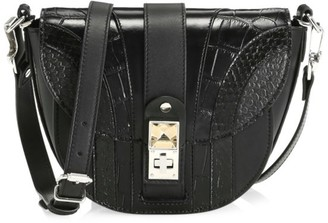 Proenza Schouler Small PS11 Snakeskin & Croc-Embossed Leather Saddle Bag