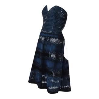 Oscar de la Renta \N Blue Silk Dresses