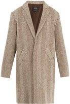 A.P.C. Manteau Baron wool-blend coat