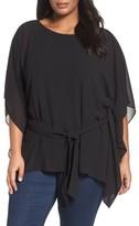 MICHAEL Michael Kors Plus Size Women's Belted Chiffon Tunic