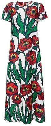La DoubleJ Poppy Silk Maxi Dress