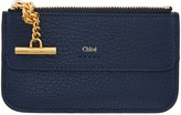 Chloé Navy Drew Card Holder