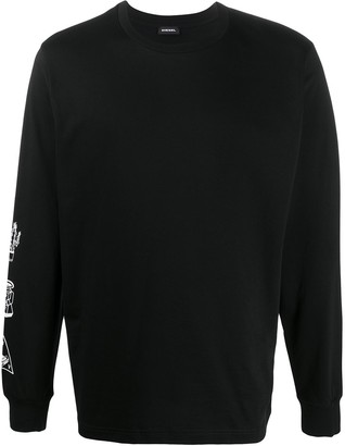 Diesel Barcode Crew Neck Sweatshirt