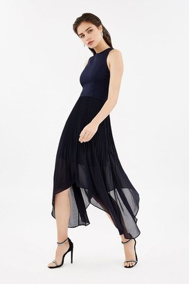 Coast Dip Hem Pleated Skirt Dress
