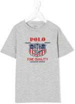 Ralph Lauren logo print T-shirt - kids - Cotton - 2 yrs
