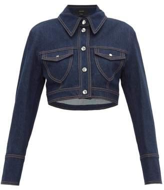 Ellery Sheval Cropped Denim Jacket - Womens - Indigo