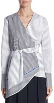 Tome Striped Wrap Shirt