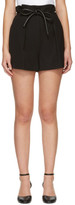 3.1 Phillip Lim Black Origami Pleat Shorts