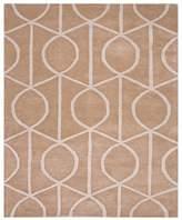 Jaipur City Area Rug - Incense/Pebble Geometric Ovals, 5' x 8'