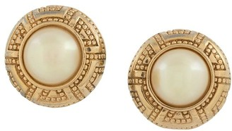 Christian Dior Pre-Owned Faux-Pearl Rounded Clip-On Earrings
