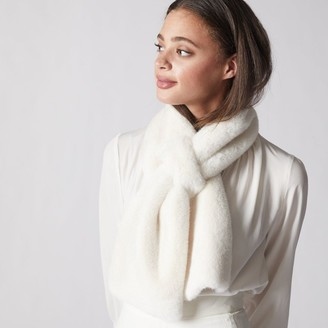Love & Lore Love And Lore Fur Pull Through Scarf Ivory