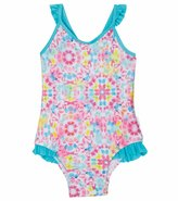 Seafolly Girls' Neon Pop Loop Back Tank One Piece (624mos) - 8113304