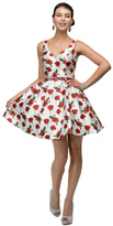 Dancing Queen Sleeveless V-Neck Floral Print Cocktail Dress