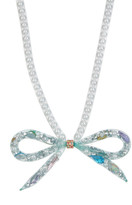 Betsey Johnson Tube Bow Beaded Necklace