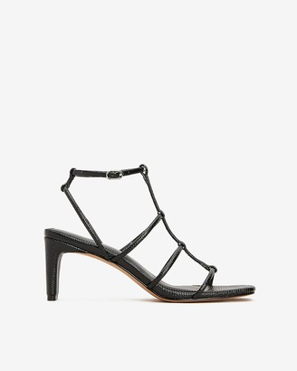 Express Square Toe Strappy Block Heel Sandals