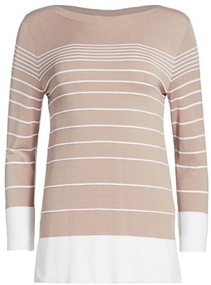 Piazza Sempione Striped Bi-color Sweater