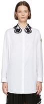 Simone Rocha Moncler Genius 4 Moncler White Embroidered Collar Shirt