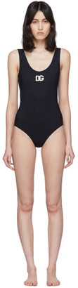 Dolce & Gabbana Black Contrast One-Piece Swimsuit