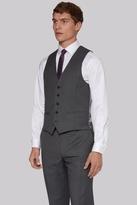 DKNY Slim Fit Grey Birdseye Waistcoat