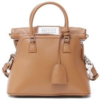 Maison Margiela 5ac Small Extendable Leather Bag - Camel