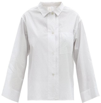 Rossell England - Bird-print Cotton-poplin Pyjama Shirt - White Print