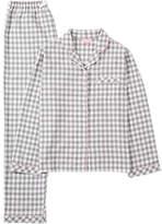 Jigsaw Children's Gingham Pyjamas, Grey